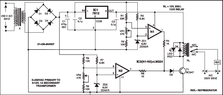 This circuit protects refrigerators as well as other appliances this circuit protects refrigerators as well as other appliances from over and under voltage asfbconference2016 Gallery