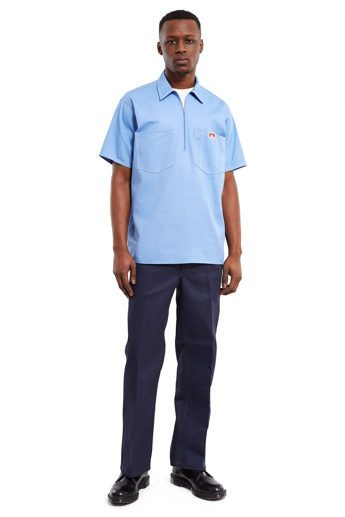 caabdb44bc44 ... Trim Fit Pants Ben Davis  original twill blend pant in deep navy is  updated with contrast red topstitching and contoured side pockets.