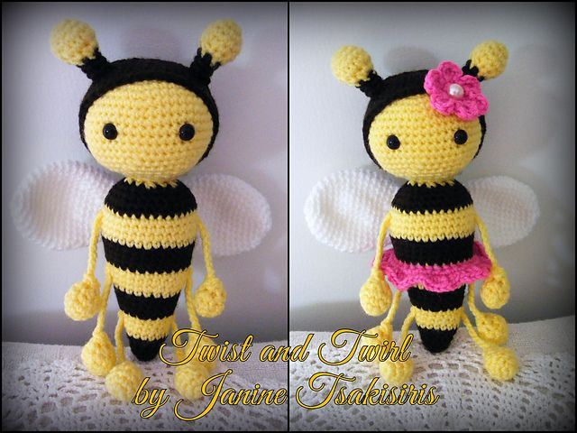 Twist And Twirl Bumble Bees Pattern By Janine Tsakisiris Crochet