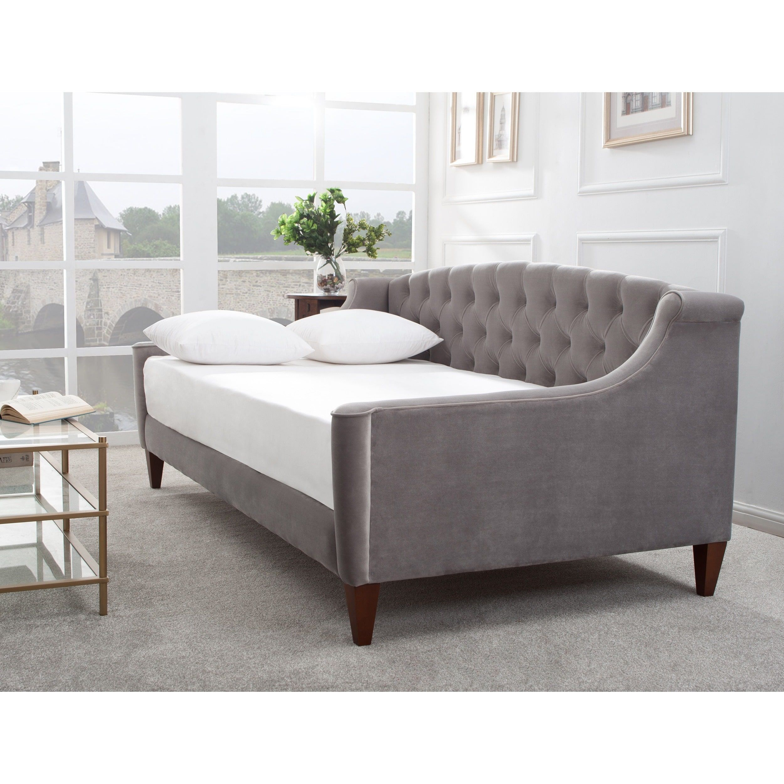 Jennifer Taylor Lucy Upholstered Sofa Bed (estate blue), Size Twin