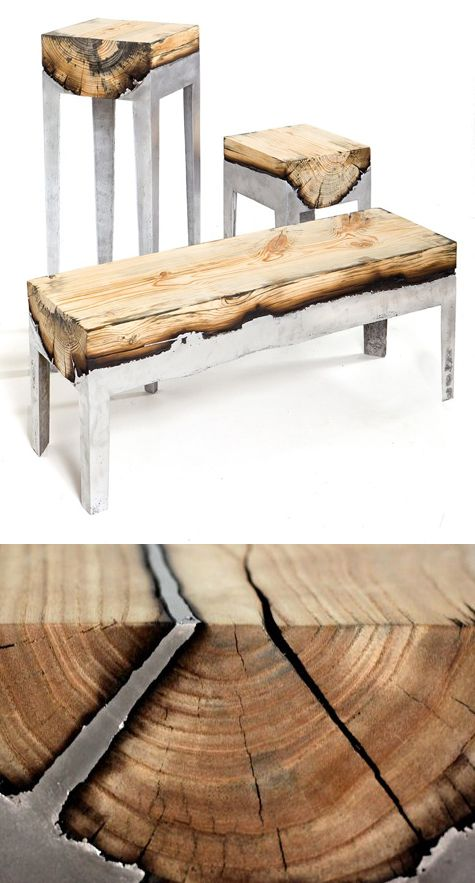Charred Larch Planks Have Been Used To Create This Stunning Coffee Table The Wood Has Lightly Scorched By Hand And Finished With A Protective