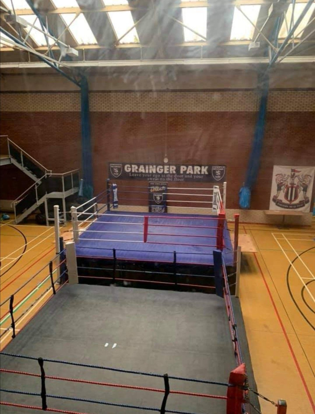 Pin By Alex Wright On Jamie Yates Film Basketball Court Wrestling Wrestling Ring