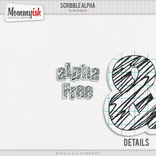 Scrapbooking TammyTags -- TT - Designer - Mommyish Graphic Design, TT- Item - Alphabet
