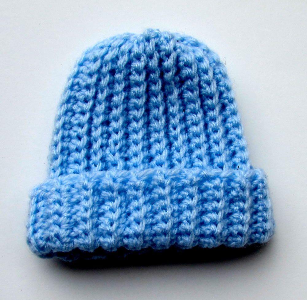 Ribbed Crochet Baby Beanie Haken Pinterest Haken And Mutsen