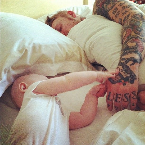 And Then There S A Blog Just Of Tattooed Men With Babies