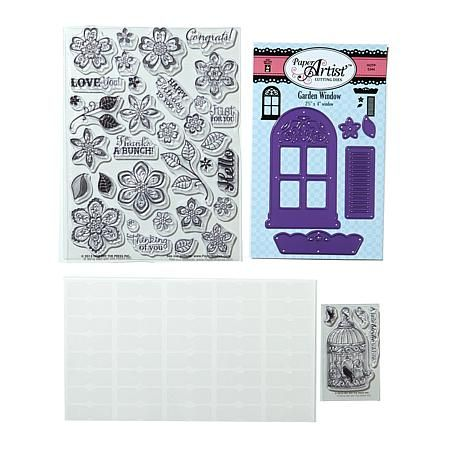 Hot Off The Press Garden Window Cut Dies and Stamps