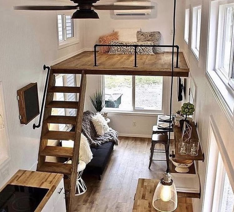 Top 8 Reasons You Should Live In A Tiny House Exploratory Glory Travel Blog Tinyhouse Living Travel Deals In 2021 Tiny House Loft Small Loft Apartments Tiny House Interior Design