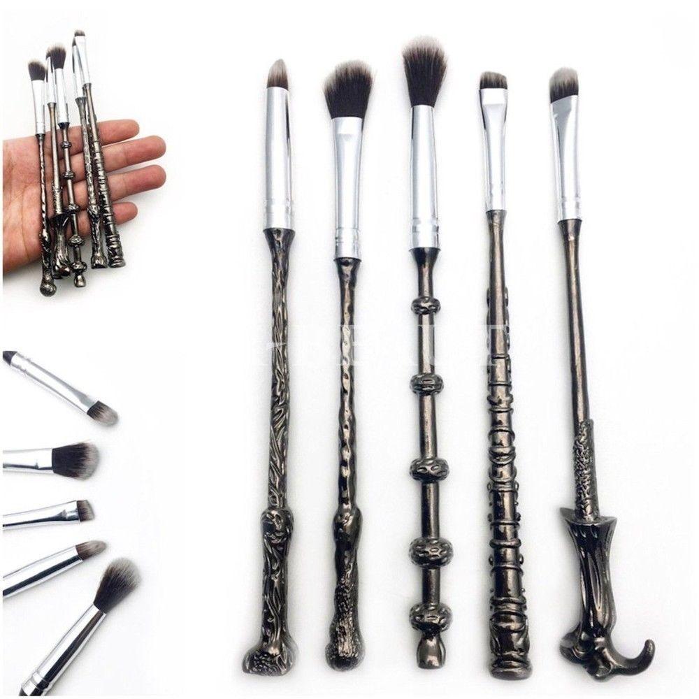 4573a9e42d03 5PCS/SET Harry Potter Wand Makeup Brushes Set mugs mug brushes ...