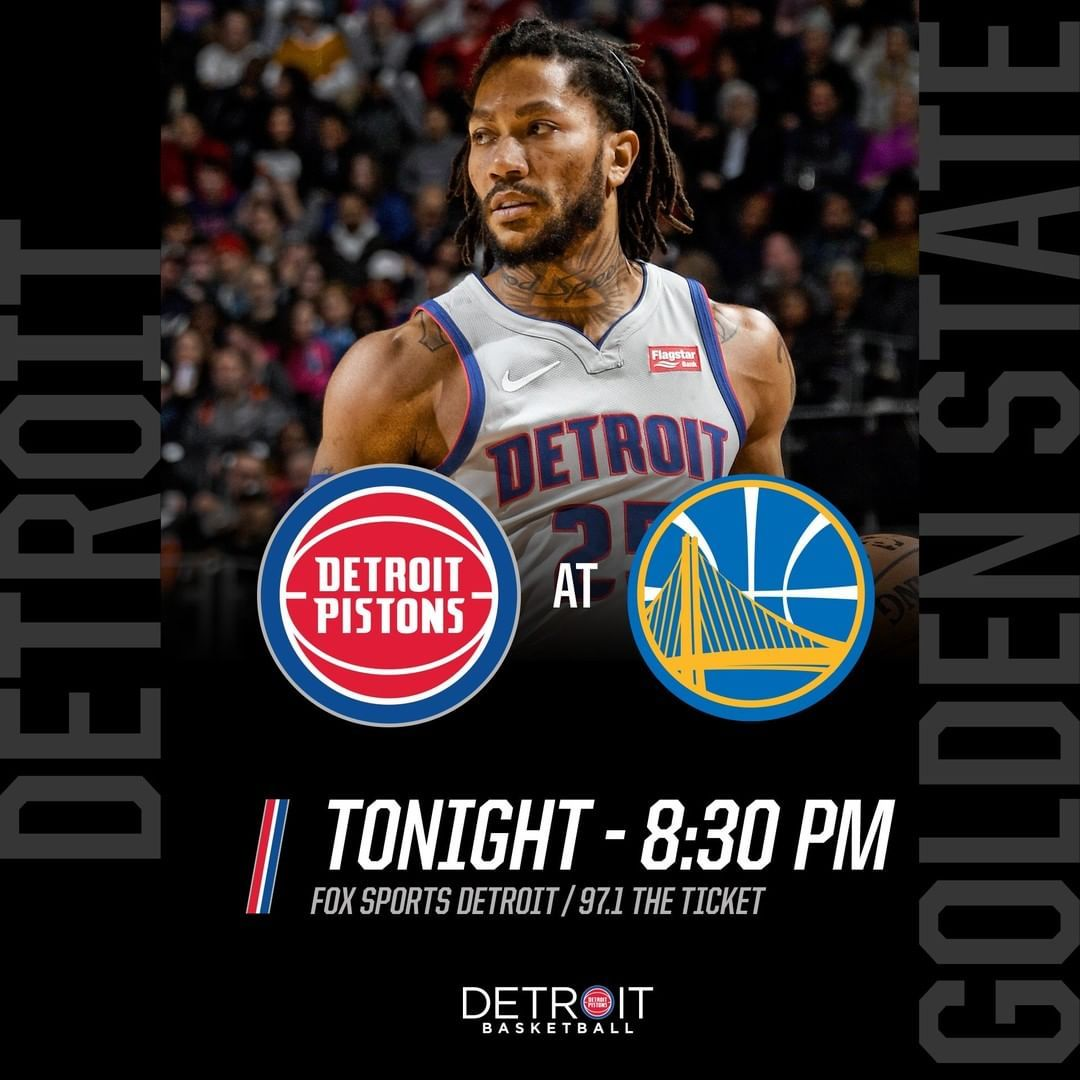 Detroit Pistons Got games today and tomorrow. We'll start