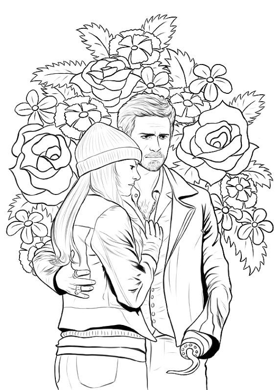Once Upon A Time Adult Colouring Book Coloring Pages Adult