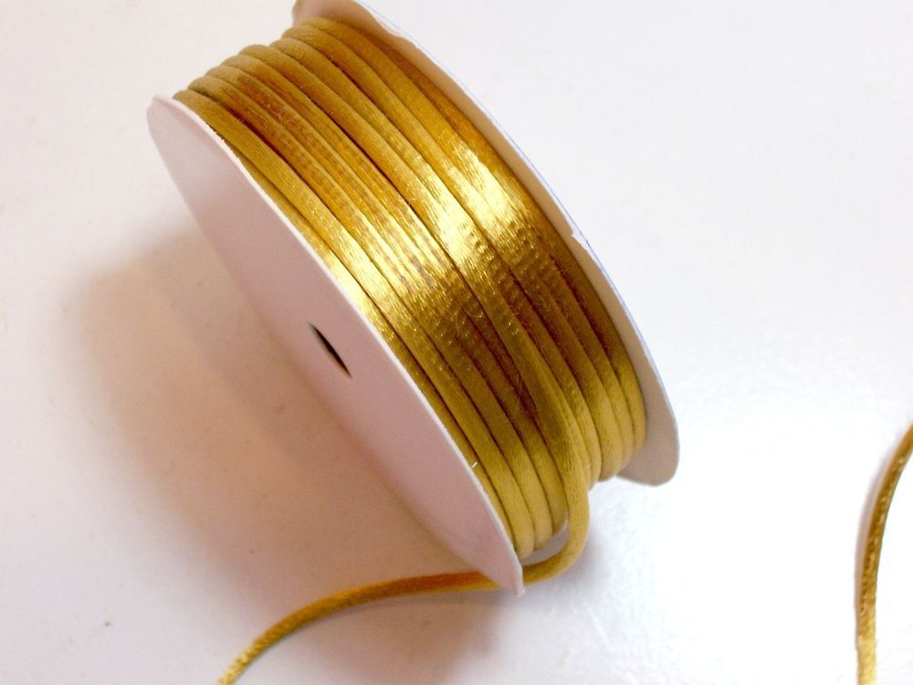 Antique Gold Rat Tail Satin Cord 1 8 Inch Wide X 6 Yards Jewelry Cord Antique Gold Sewing Trim Jewellery Cord