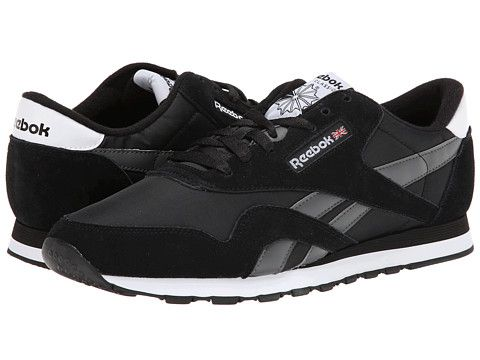 82b13ecce0f Reebok Lifestyle Classic Nylon R13 Black Rivet Grey White - Zappos.com Free  Shipping BOTH Ways