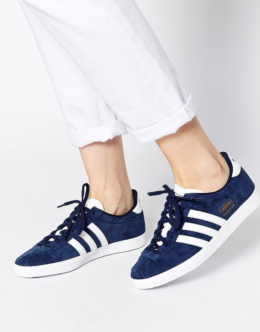 adidas Originals Gazelle OG Indigo Sneakers at asos.com