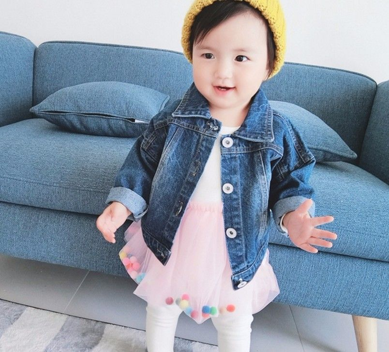 F7057#2017 Latest Fashion Top Design Blue Unisex Demin Jackets Children  Clothes Kids Jeans Wholesale