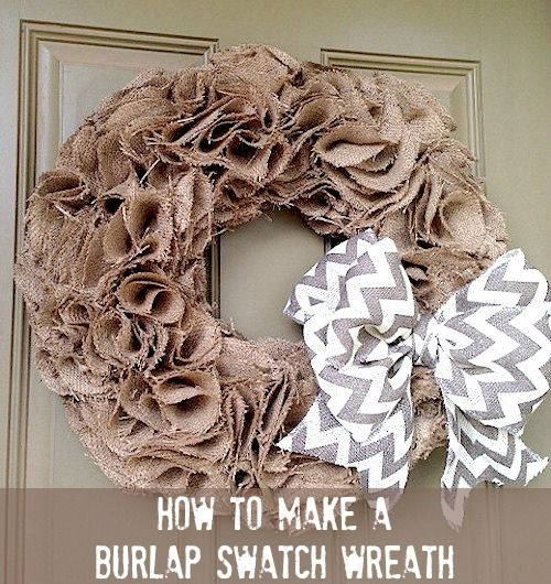 How to make a swatch burlap wreath video decor crafts for Crafts to make with burlap