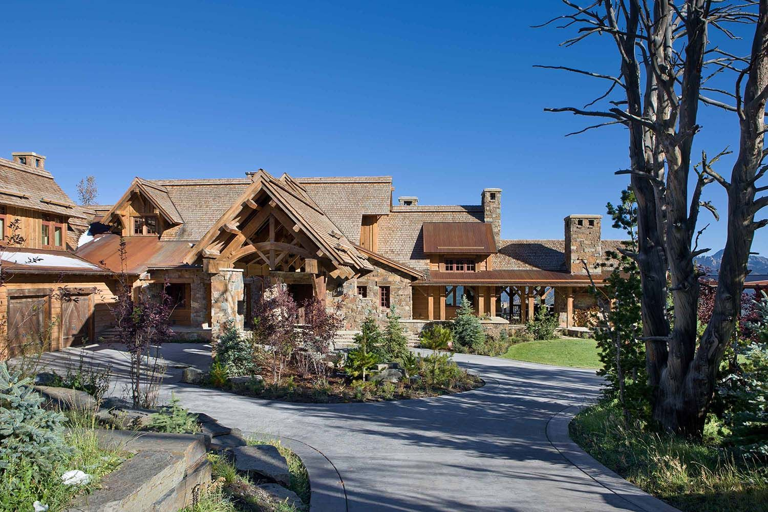 Exceptional Rustic Mountain Retreat Boasts Lodge Style Appeal In Big Sky, Montana Great Pictures