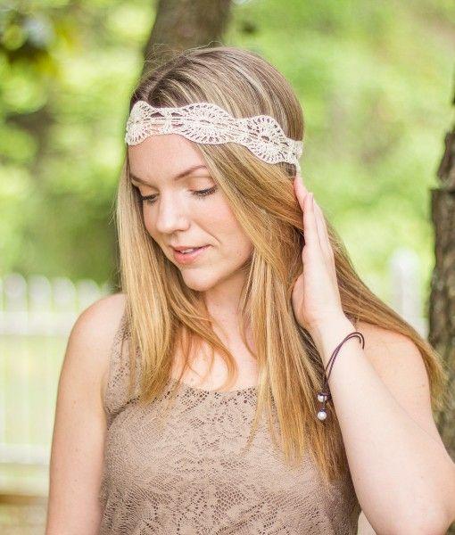 Crochet Bohemian Headband Summer Headband Cute Boho