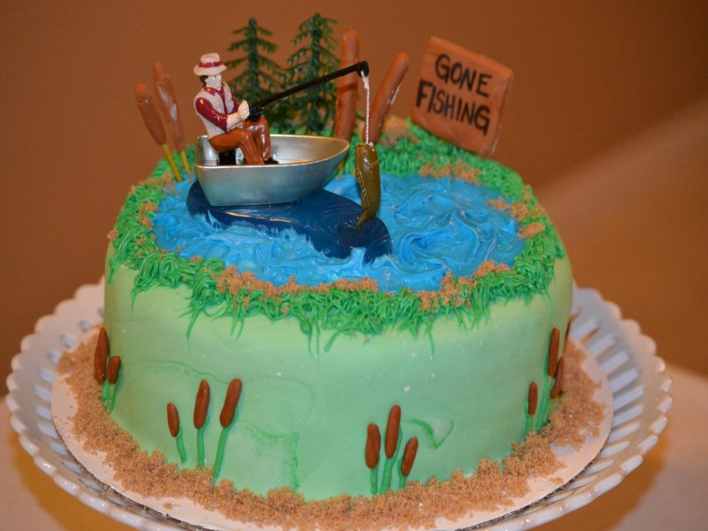 Enjoyable Easy Fishing Cakes For Men Ideas With Images Fish Cake Personalised Birthday Cards Epsylily Jamesorg
