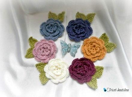 Ronde des fleurs au crochet (création Tricot-Boutchou)