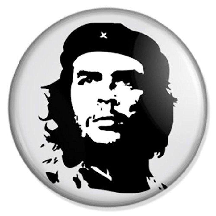 Che Guevara Button Badge Anstecker Anstecknadel Ansteckpin Schablonenkunst Kunstproduktion Schablonen