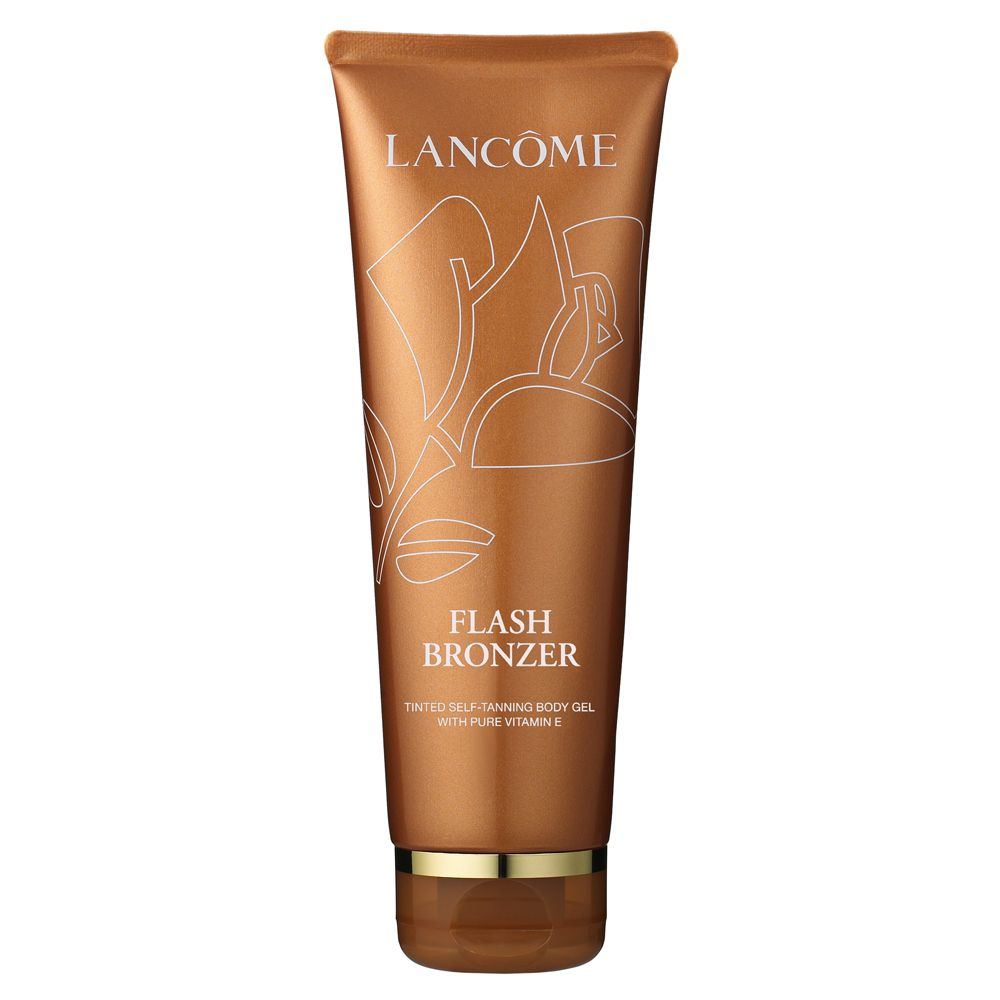 """LANCÔME Flash Bronzer -  If you've been craving that come-hither Cote d'Azure tan, this """"auto bronzante"""" is the immediate answer without ever reaching for your passport. A formula featuring DHA and Natural Caramel Extract guarantees a gorgeous golden color in just 30 minutes, while antioxidant-rich pure Vitamin E helps keep free radicals from doing future damage, And moisturizing ingredients leave skin feeling satiny-soft and altogether irresistible."""