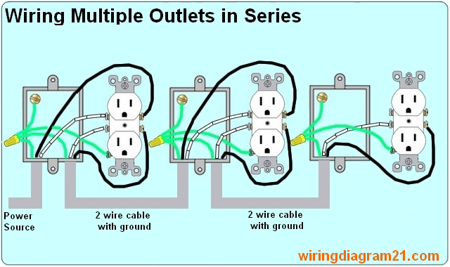 How To Wire Multiple Outlet In Serie Lectrical Wiring Diagram Outlet Wiring Home Electrical Wiring Installing Electrical Outlet