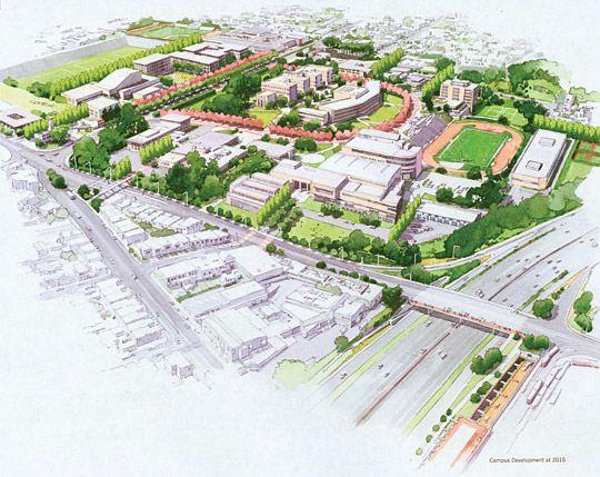 Conceptual rendering of City Colledge of San Francisco (CCSF Ocean ...