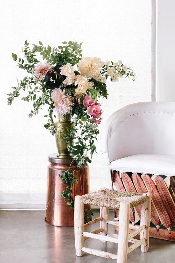 Baby Shower Seating Area Rose Gold Decor And Modern Boho Fls