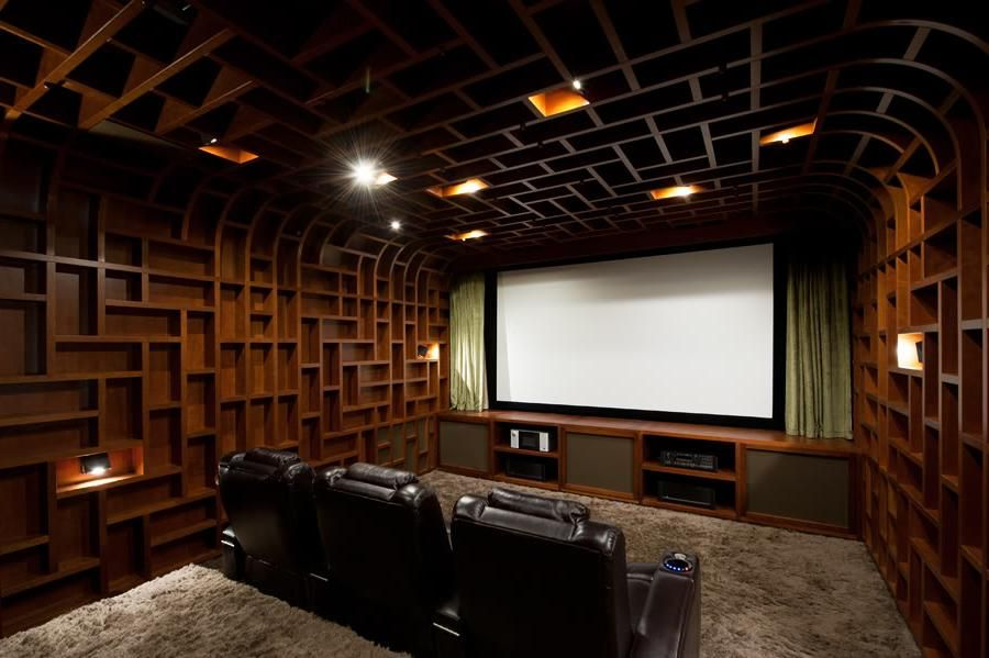 Wooden House 50 Creative Home Theater Design