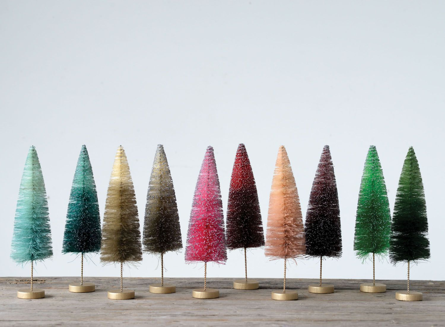 Colorful Skinny Bottle Brush Tree 11 Inch Bottle Brush Christmas Trees Bottle Brush Trees Small Christmas Trees