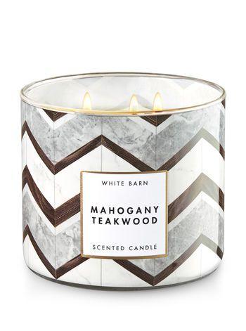 Mahogany Teakwood 3 Wick Candle Bath And Body Works Bath