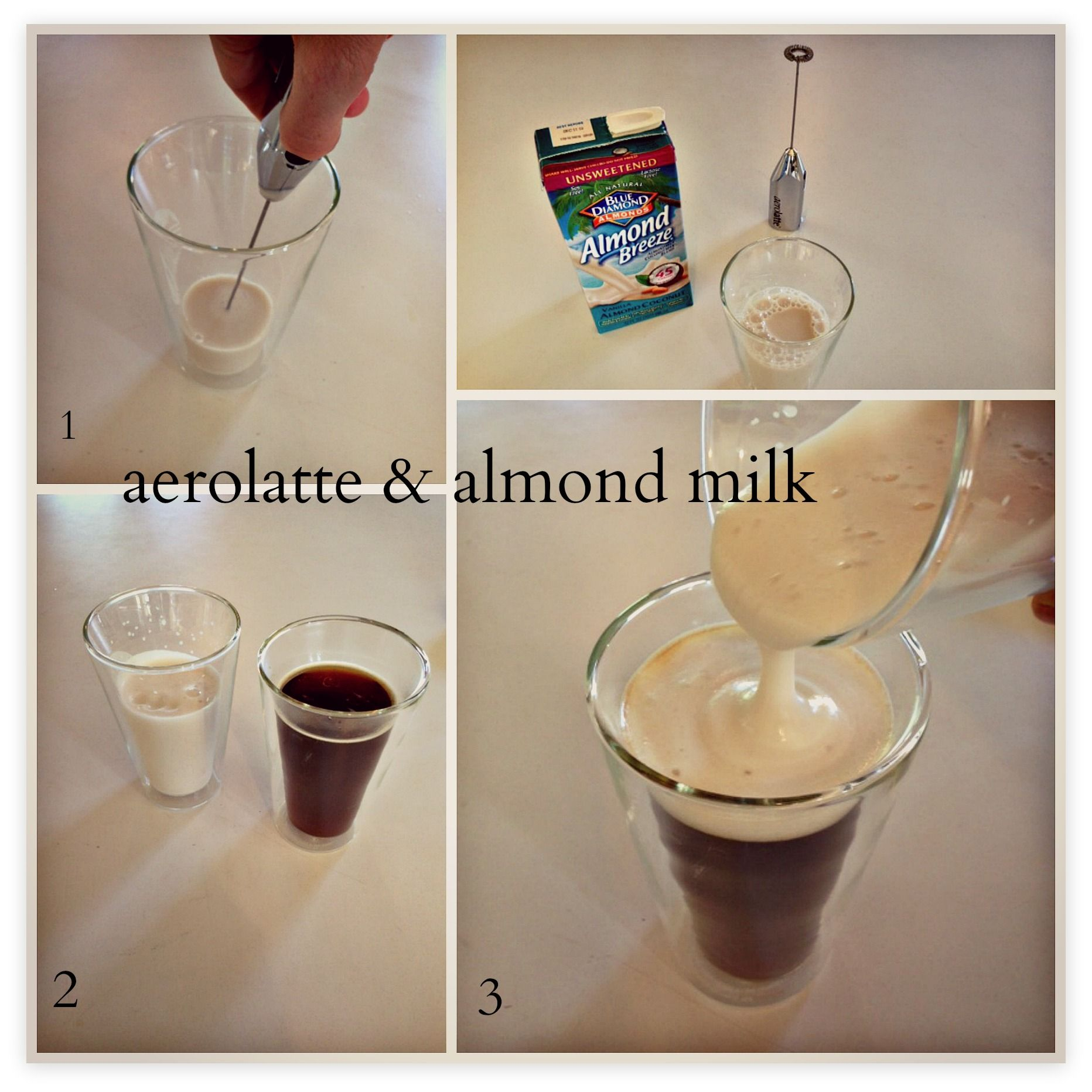 how to froth almond milk cold