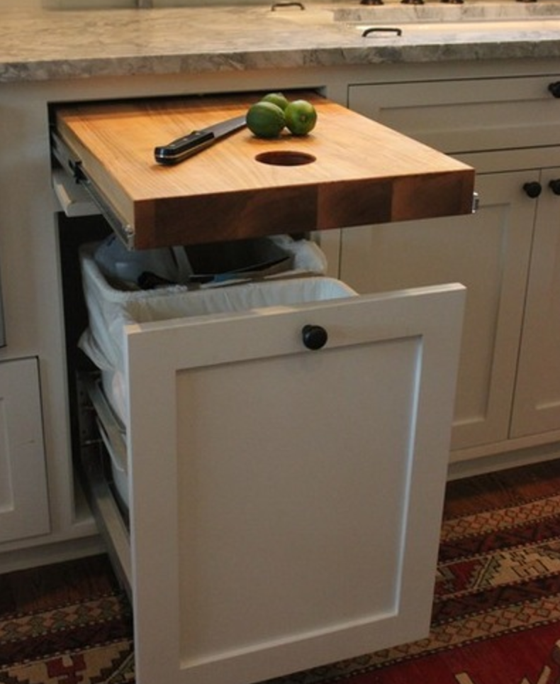 Drawer With A Rollout Chopping Board
