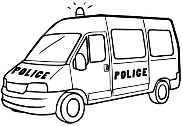 Car Ambulance Police Coloring Page Police Car Car Coloring Pages
