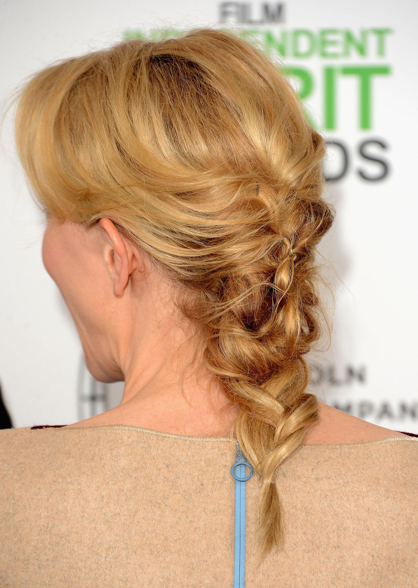 Cate blanchett spirit awards loose french braids and french braid
