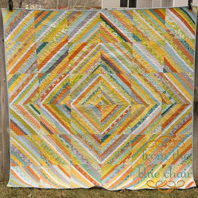 from the blue chair: A Strings Bee Quilt  I might set my group string quilt like this