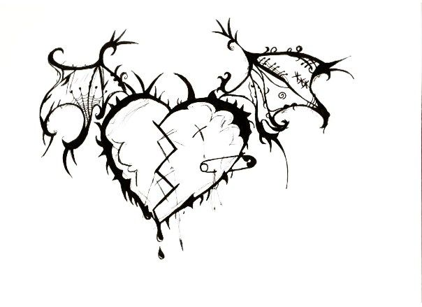 Emo Heart Drawings Emo Heart Drawing 13nemo131 Deviantart Com