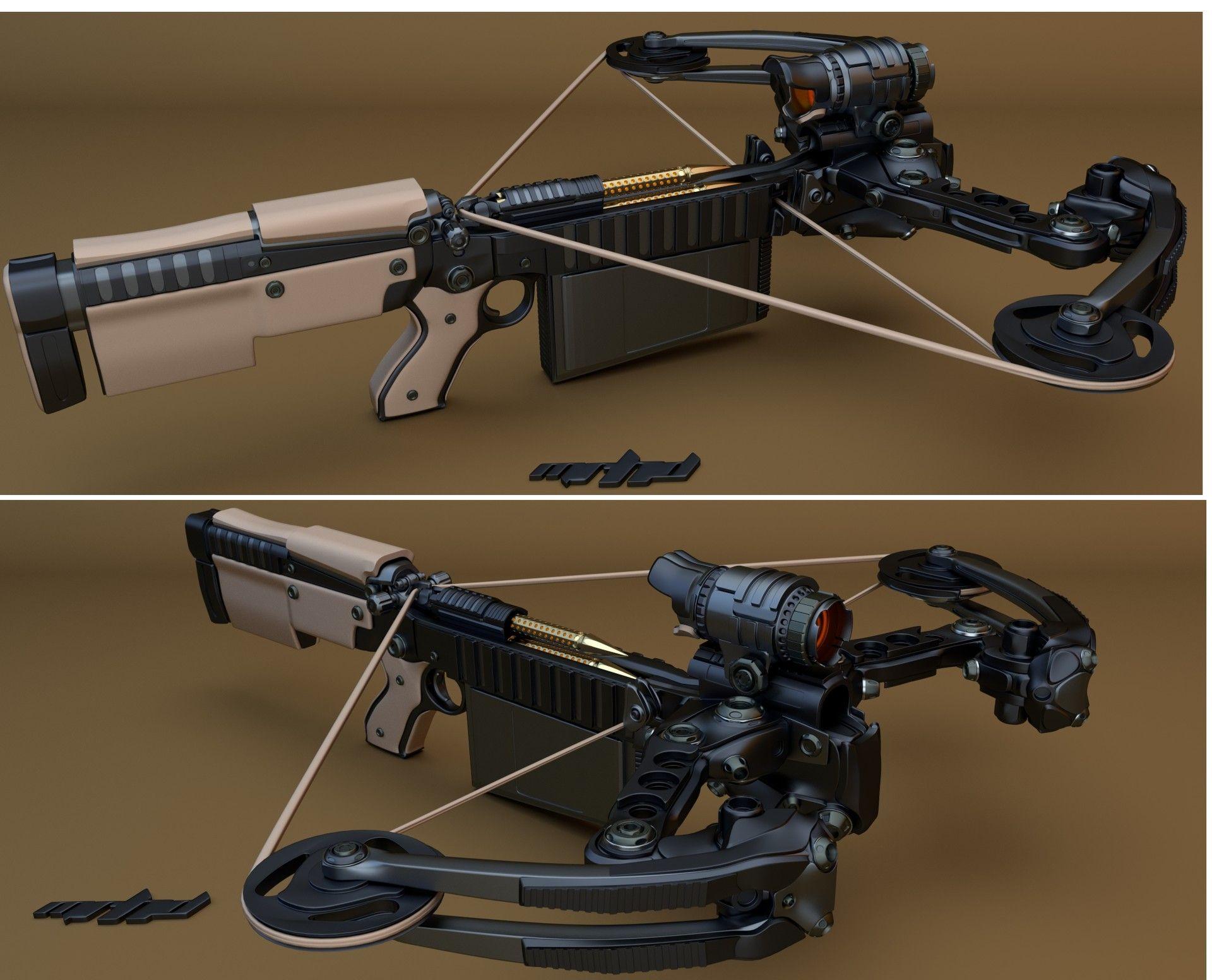artstation semi automatic crossbow