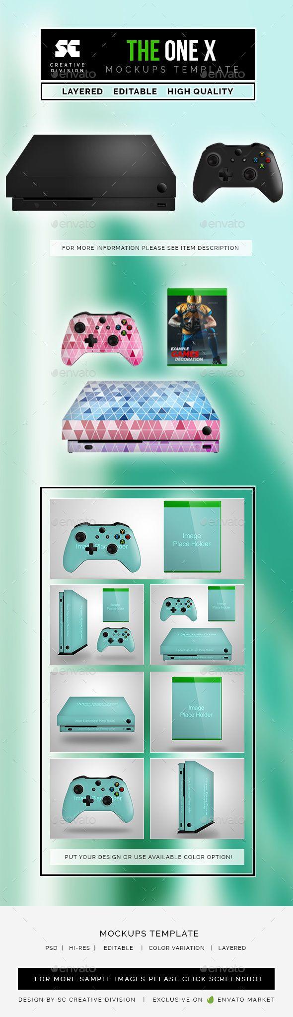 ONE X Console MockUp Mockup, Board game design, Console
