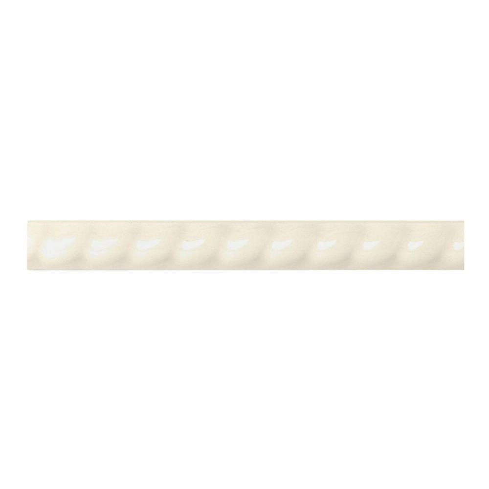 Daltile Liners Almond 1 In X 6 In Ceramic Rope Liner Trim Wall Tile 013516ropen1p2 The Home Depot Daltile Wall Tiles Ceramic Materials