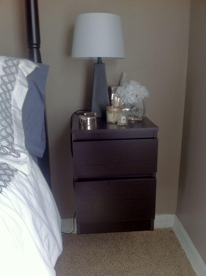 Loving My Ikea Malm Nightstand Mounted On Wall Ikea Malm Nightstand Parents Bedroom Dresser As Nightstand