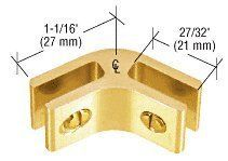 crl gold anodized anodized aluminum twoway 120 degree glass connector by cr laurence 328 available in both chrome and gold finishes lightweight