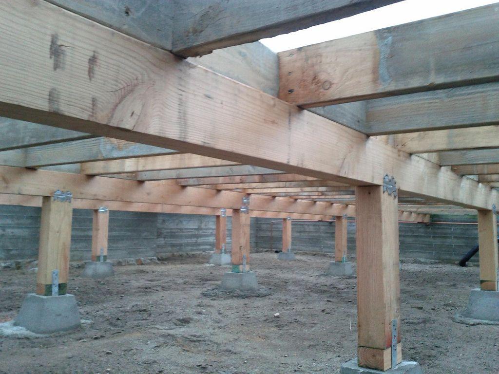 wood crawl space foundation