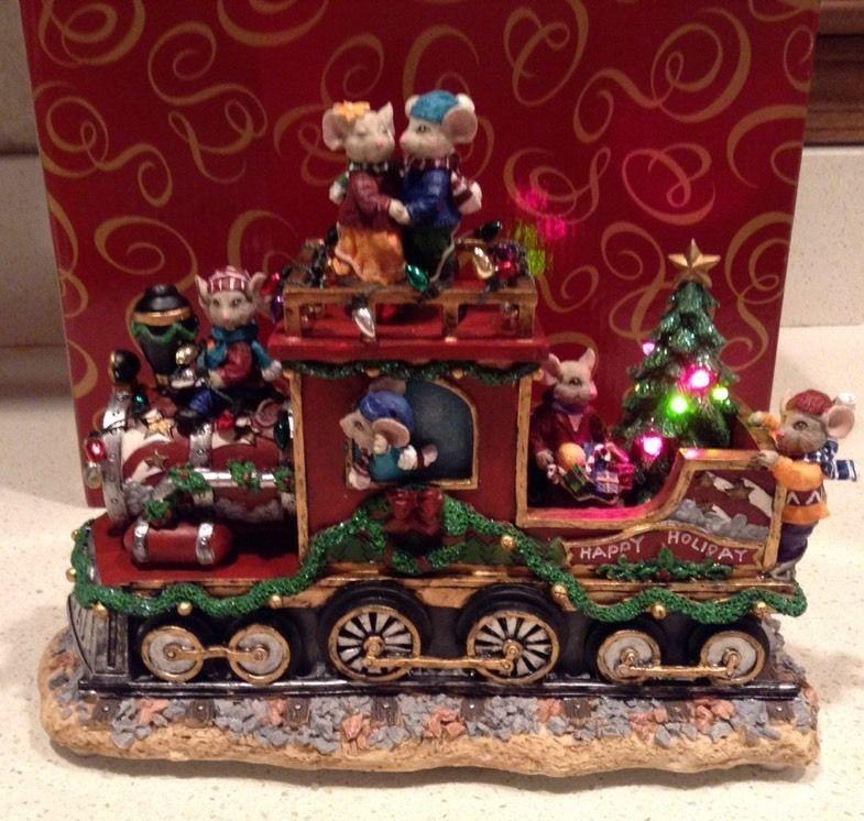 Christmas Mouse Train San Francisco Music Box Company We Wish You a
