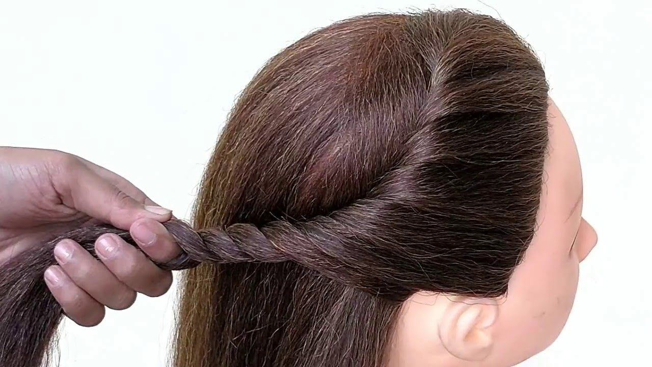 Everyday Hairstyle For Girls Hair Style For Party Easy And Simple Wedding Hairstyles For Girls Cute Wedding Hairstyles Hair Styles