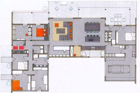 200 m2 pour cette maison en bois pleine du0027idées - plan maison plain pied 200m2