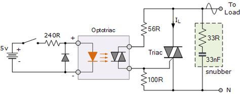 Triac Optocoupler Application Electronic Schematics Electronics Circuit Electronics Education