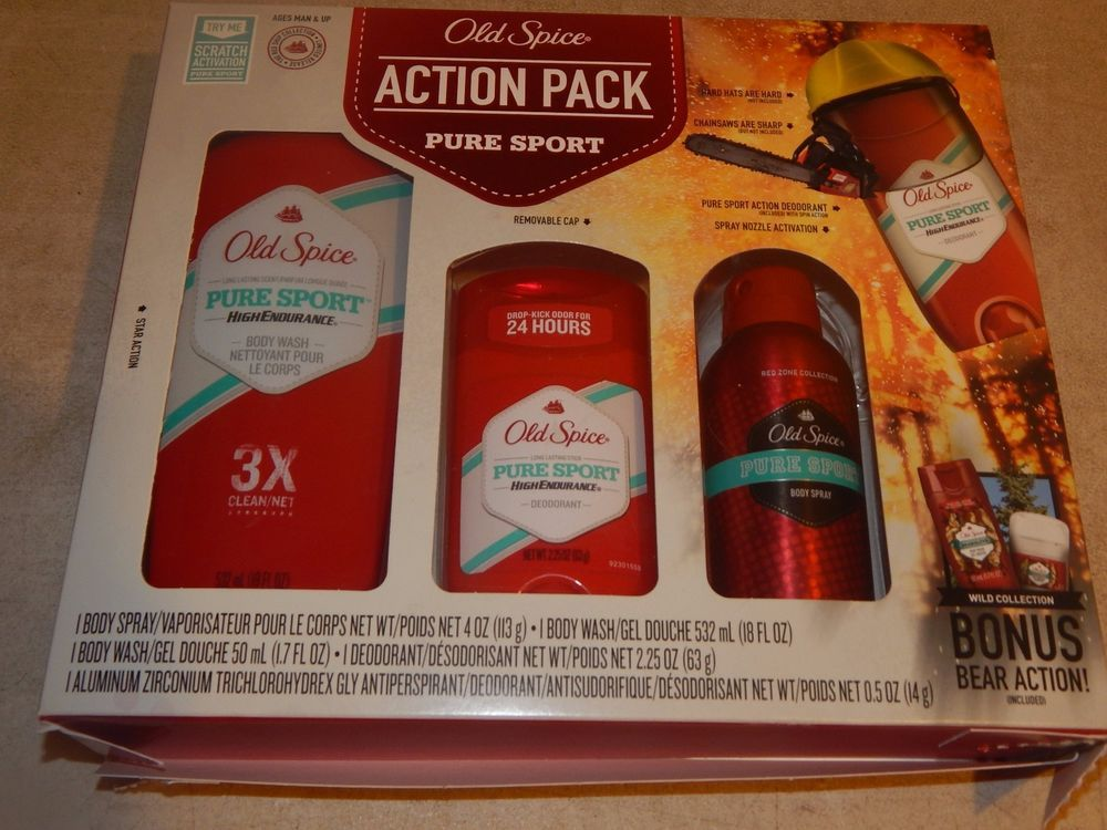 Old Spice Pure Sport Action Pack Gift Set OldSpice Old
