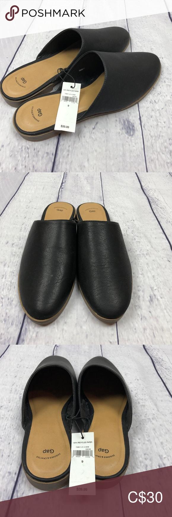 Gap Black Mules NWT size 9 | Gap shoes