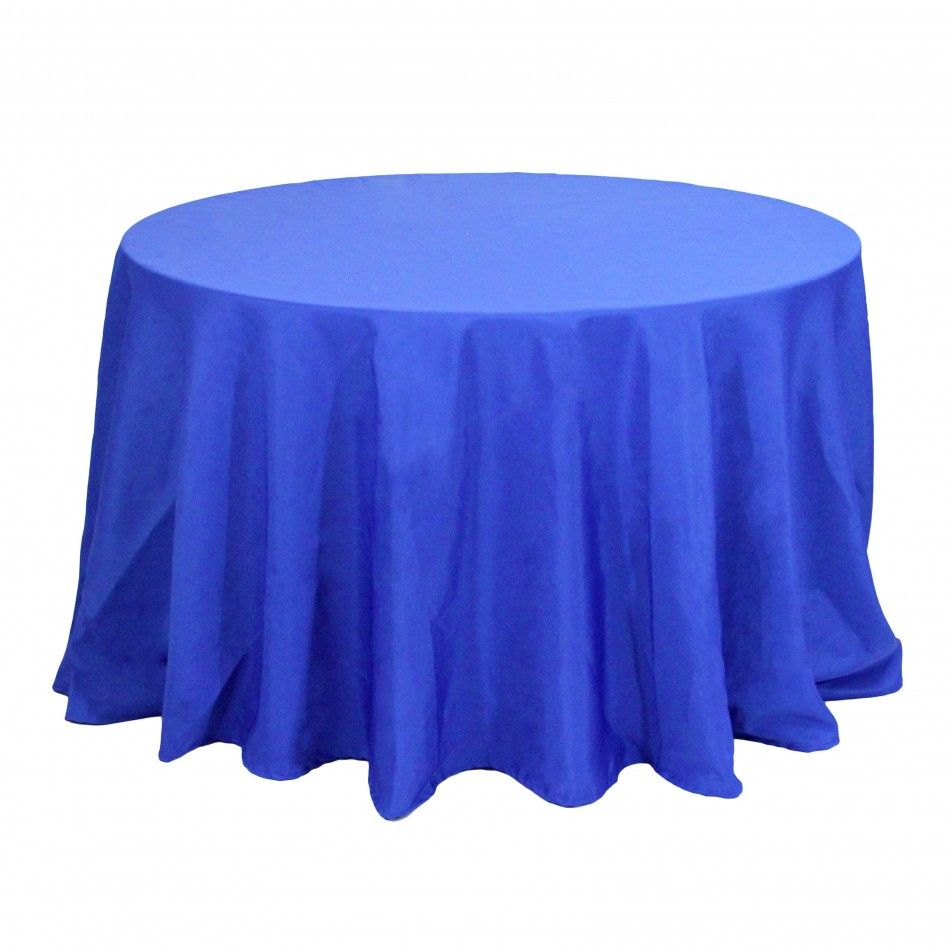 90 Round Table Linens Royal Blue 403975 Wholesale